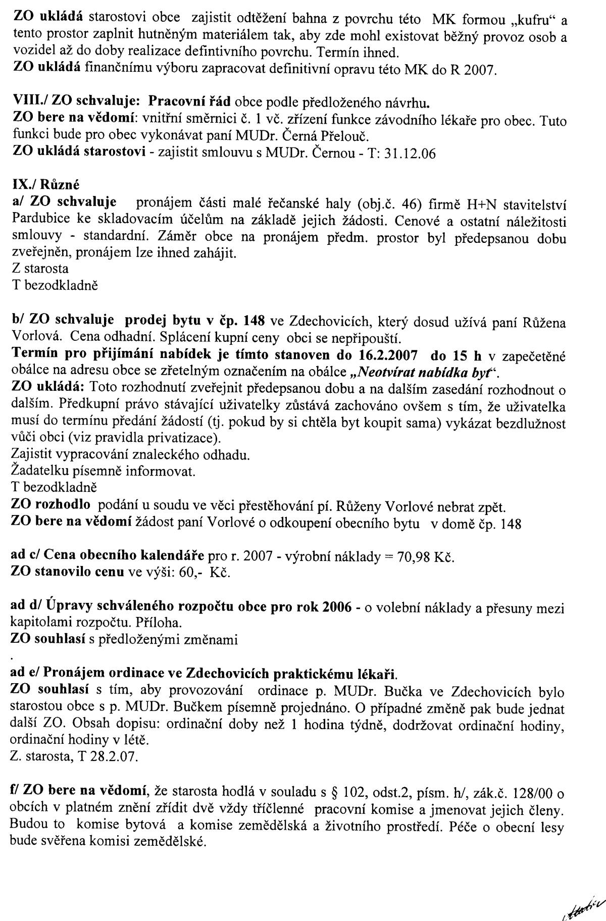 a0aaaa6e4f2 Usnesení obecního zastupitelstva dne 11.12.2006 « Elektronická ...