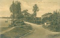 Pohlednice hráz Zdechovického rybníka cca r. 1918 líc