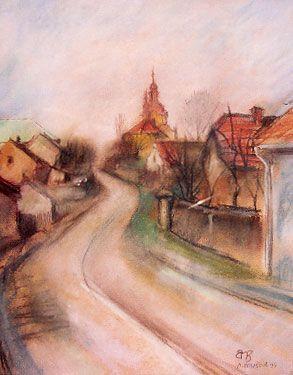 Silnice ke kostelu