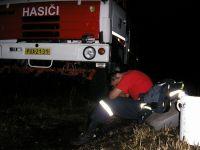 Požár pod linkou 06-odpočinek po zásahu