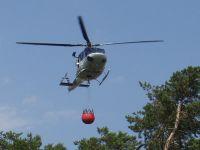 Požár Jankovice-6 pomoc vrtulníku