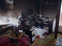 Požár bytu Chvaletice-vánoční stomek 06-2