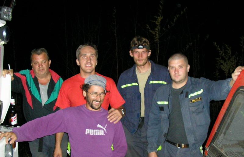 Požár pod linkou 06-v noci-přišla návštěva-odpočinek