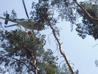 Požár Jankovice-7 pomoc vrtulníku