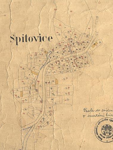 Katastrální mapa Spytovic