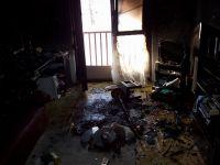 Požár bytu Chvaletice-vánoční stomek 06-1