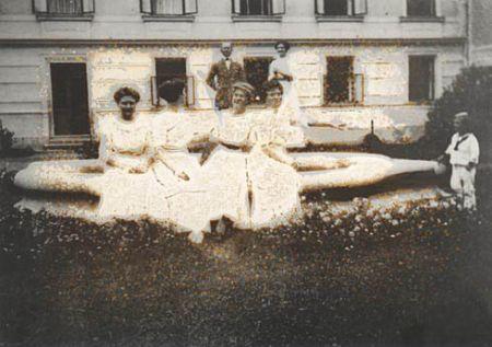 Otto Mettal s rodinou